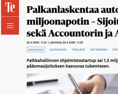Palkkaus.fi sai miljoonarahoituksen alan konkareilta