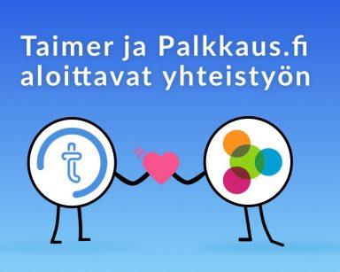 Taimer ja Palkkaus.fi yhteistyöhön
