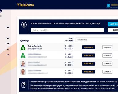 Talenomin TiliJaska käyttää Palkkaus.fi-palkanlaskentaa